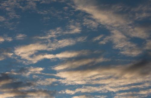 morning sky, blue peeking through