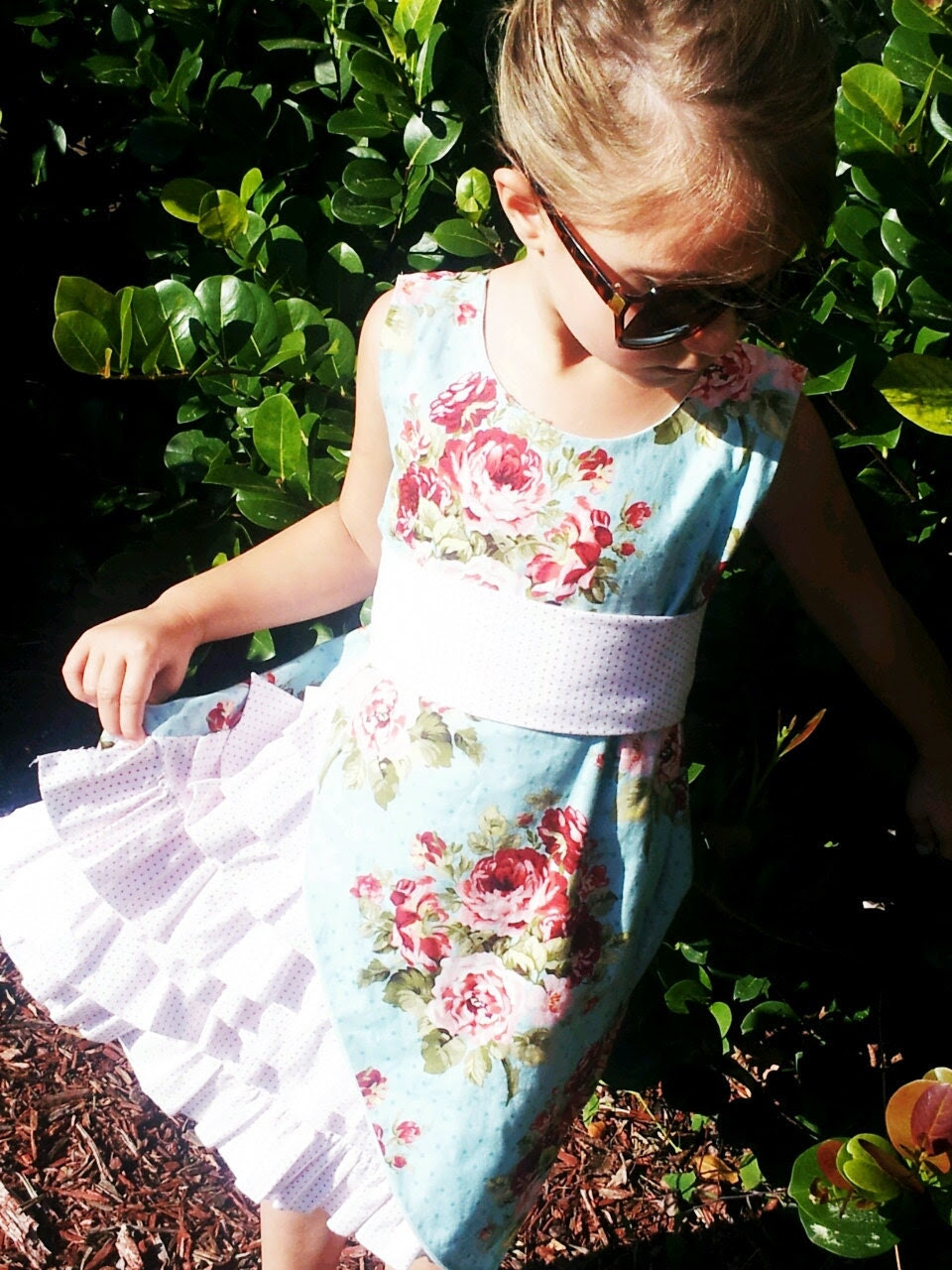 Beautiful shabby chic garden tea Party dress