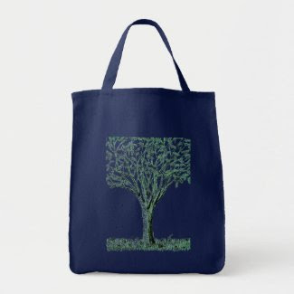 Tote Bag with a Tree