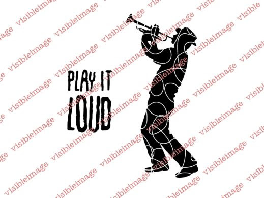 Visible Image INKognito Play it Loud Trumpet stamps