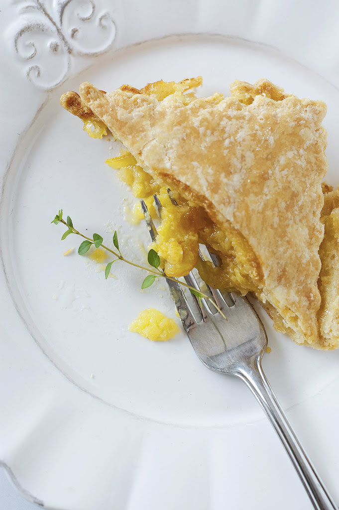 shaker lemon pie - fork