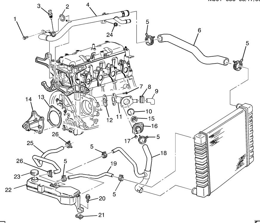 3400 Sfi Engine Cooling System Diagram