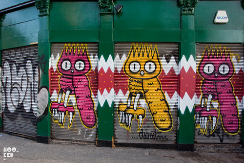 Street art shutters by London based artist Dscreet