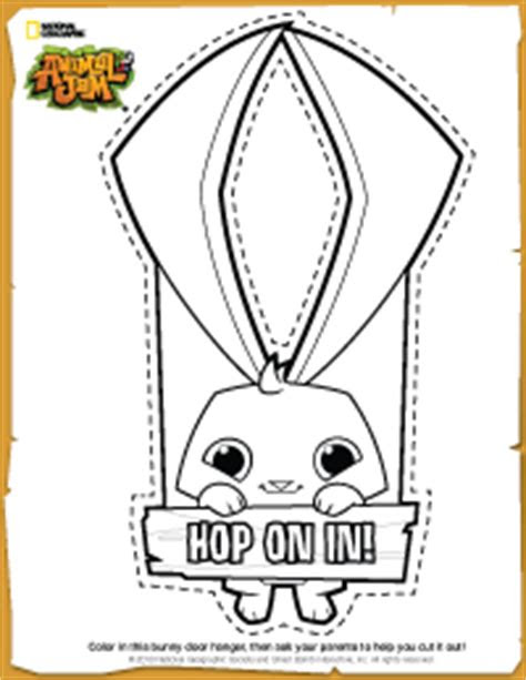 animal jam diy bunny door hanger animal jam pinterest