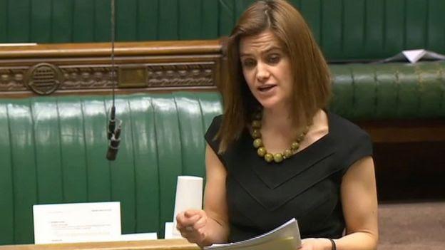 Jo Cox MP speaking in Parliament