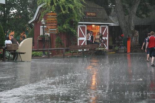 Huge rain at Canobie