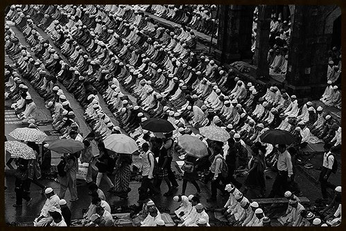 Eid Prayers - Eid Ul Fitr Bandra Station Road in the Rains by firoze shakir photographerno1