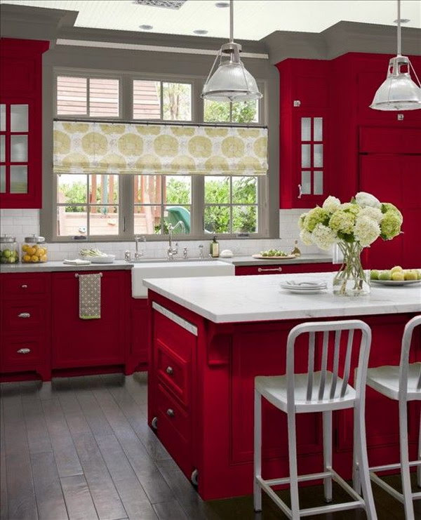 Red And Grey Kitchen Ideas Dream House