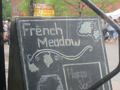 http://www.frenchmeadowcafe.com/menus_stpaul.htmlBREAKFASTMonday-Thursday 6:30AM-2:00PM / Friday-Sunday 6:30AM-3:00PMLUNCHDaily 6:30AM-5:00PMFrom organic eggs and our signature fruit & nut pancake to rustic sandwiches and hearty soups, French Meadow has an abundance of healthy and alternative options for breakfast and lunch.St. PaulFrench Meadow Bakery & Cafe1662 Grand AvenueSaint Paul, MN 55105 (google map)p 651.789.8870f 651.789.8871HoursSunday - Thursday / 6:30 am - 11 pmFriday - Saturday / 6:30 am - midnightHappy HourMonday-Friday / 4 pm - 5:30 pmParkingFor your convenience, off-street parking is available across the street from the restaurant in the shared lot with Patagonia. Street parking is also available.Manager / manager@frenchmeadowongrand.com