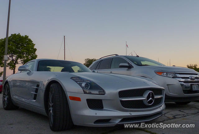 Mercedes SLS AMG spotted in Milwaukee, Wisconsin on 07/24/2013
