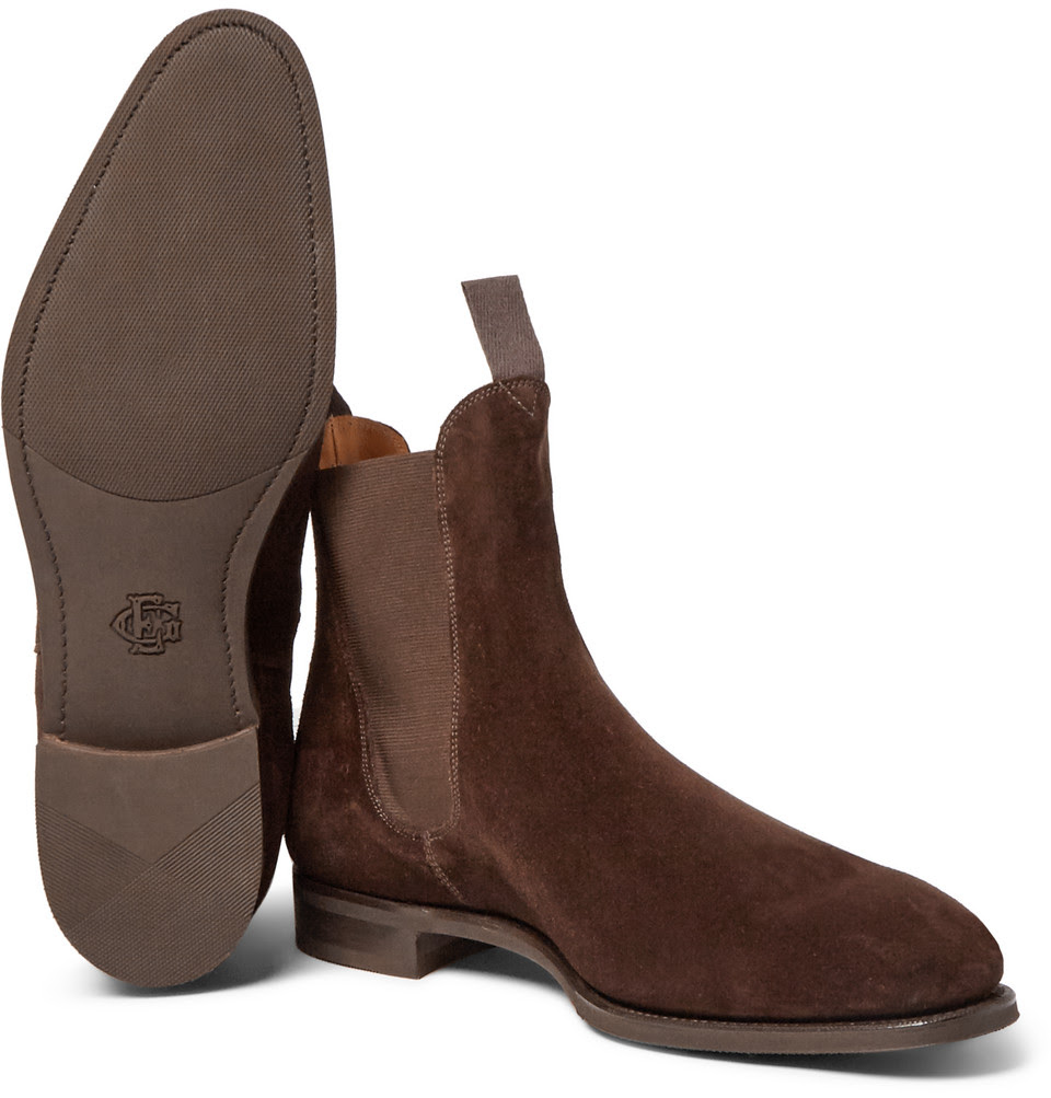 Mens Brown Suede Casual Shoes
