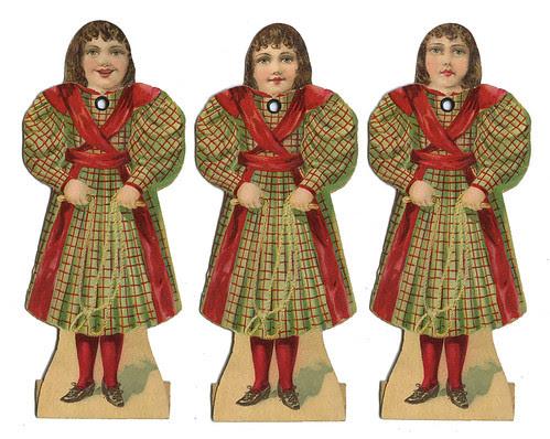 J. & P. brunette mechanical paper doll_tatteredandlost