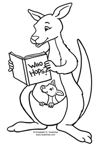 dulemba: Coloring Page Tuesday Kangaroo