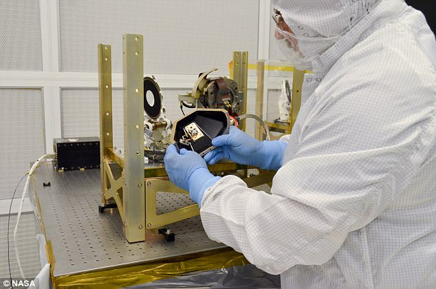 The LCRD payload will consist of two identical optical terminals connected by a component called a space switching unit, which acts as a data router