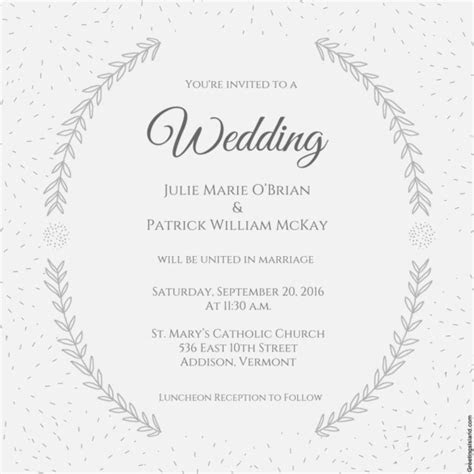 Wedding Invitation Template   71  Free Printable Word, PDF