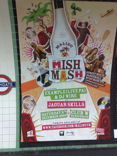 Malibu 'Mish Mash' poster promotes Facebook Fan Page