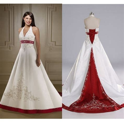 Aliexpress.com : Buy Hot Red and White Wedding Dresses