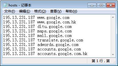 Google的可用Hosts文件