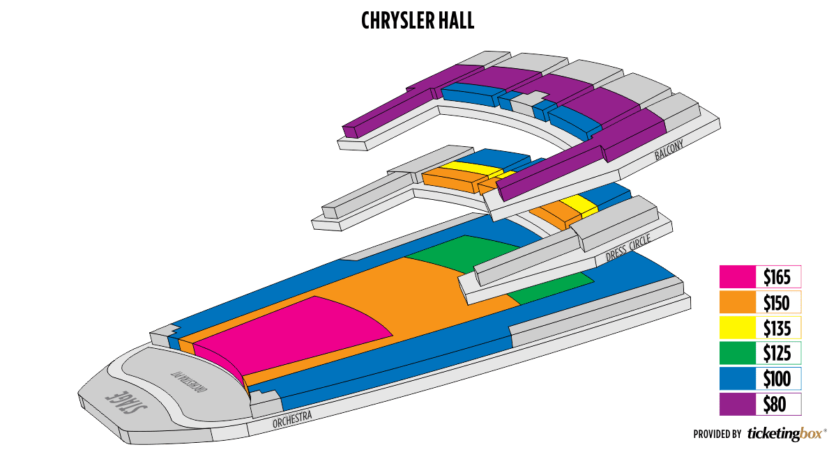 Chrysler Hall Seating Supercars Gallery