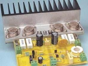 50 watt rms hifi amplifier với nhựa và kim loại vỏ bọc transistor