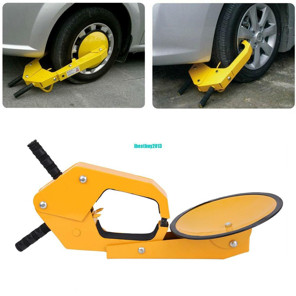 Yellow Parking Car Truck Tire Claw Boot Wheel Clamp