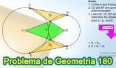 Problema de Geometría 180 (ESL): Circunferencias tangentes exteriores, Tangente común exterior, Área de triángulos y cuadrilátero.