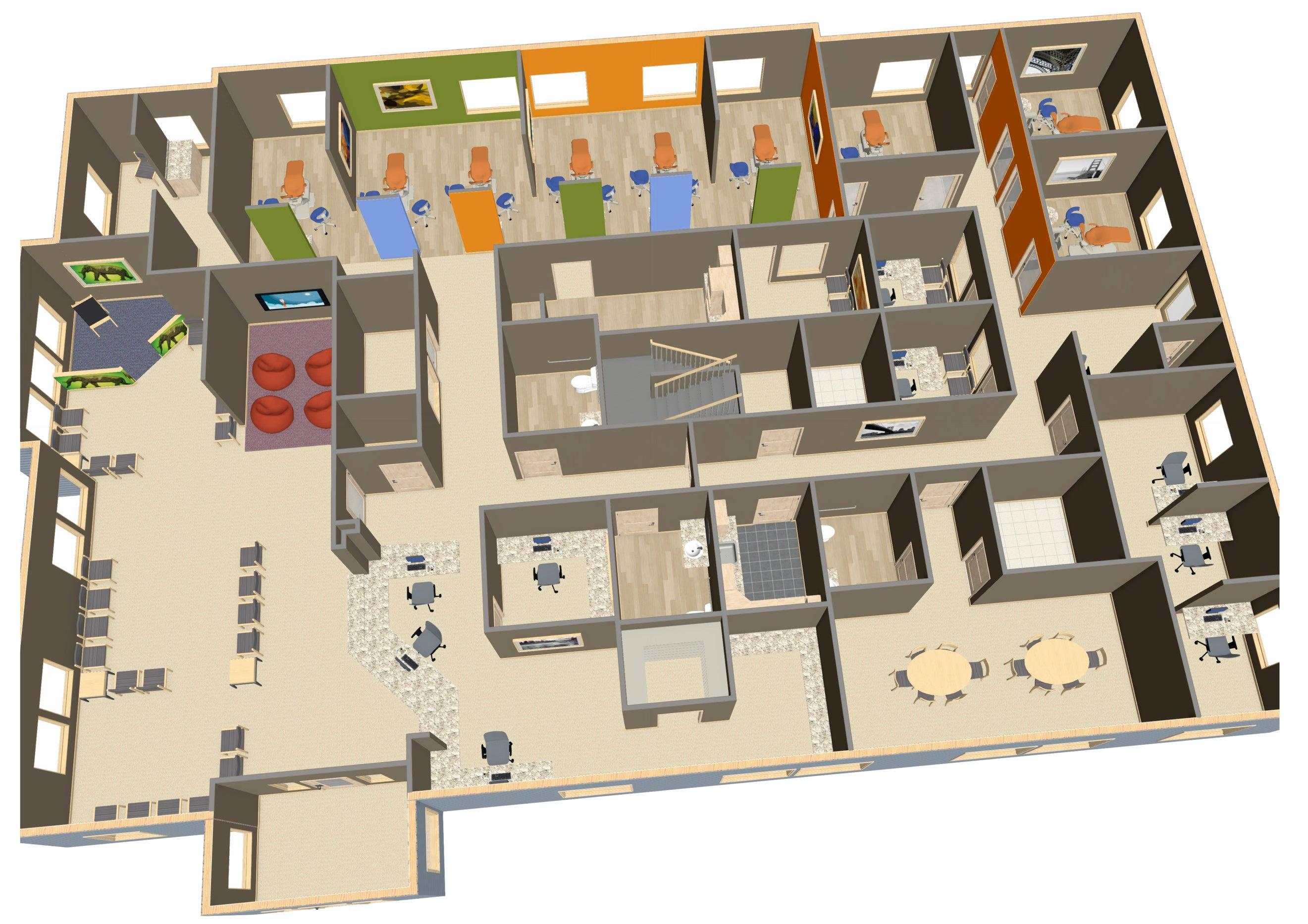 Layout Dental Clinic Floor Plan Design