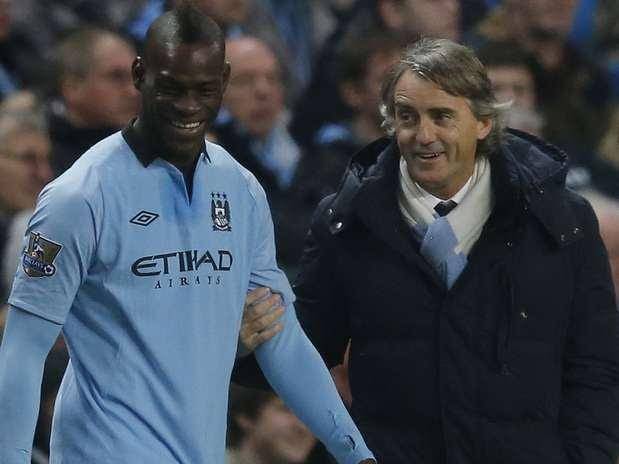 Balotelli pode deixar o Manchester City Foto:  / Reuters