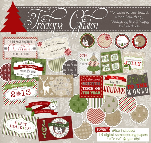 Christmas-label-templates