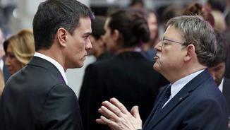 Pedro Sánchez i Ximo Puig, durant un acte a Madrid la setmana passada (EFE)