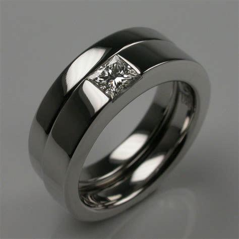 Times Square Platinum Engagement &Wedding Ring Set