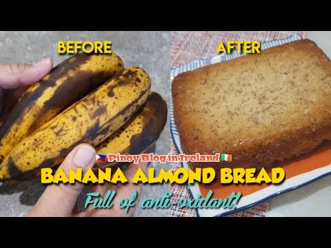 BANANA ALMOND BREAD FOR A HEALTHY SNACK
