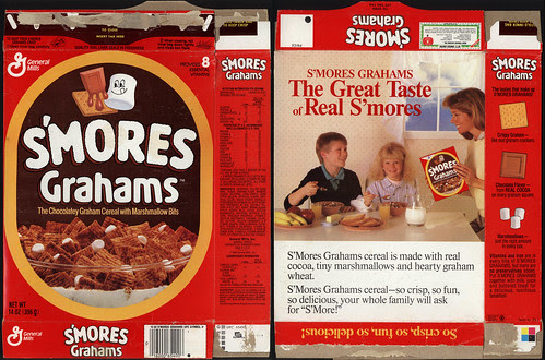 General Mills - S'Mores Grahams cereal box - 1989