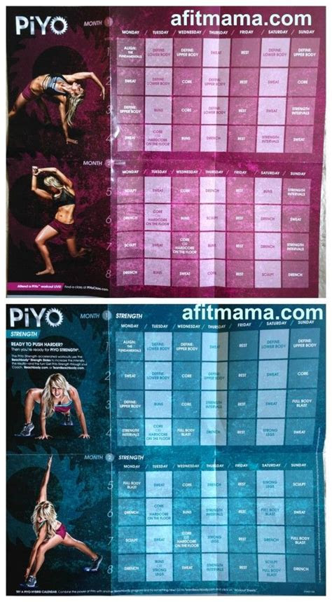 piyo workout schedule google search inspiration