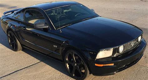 generation black  ford mustang gt   sale