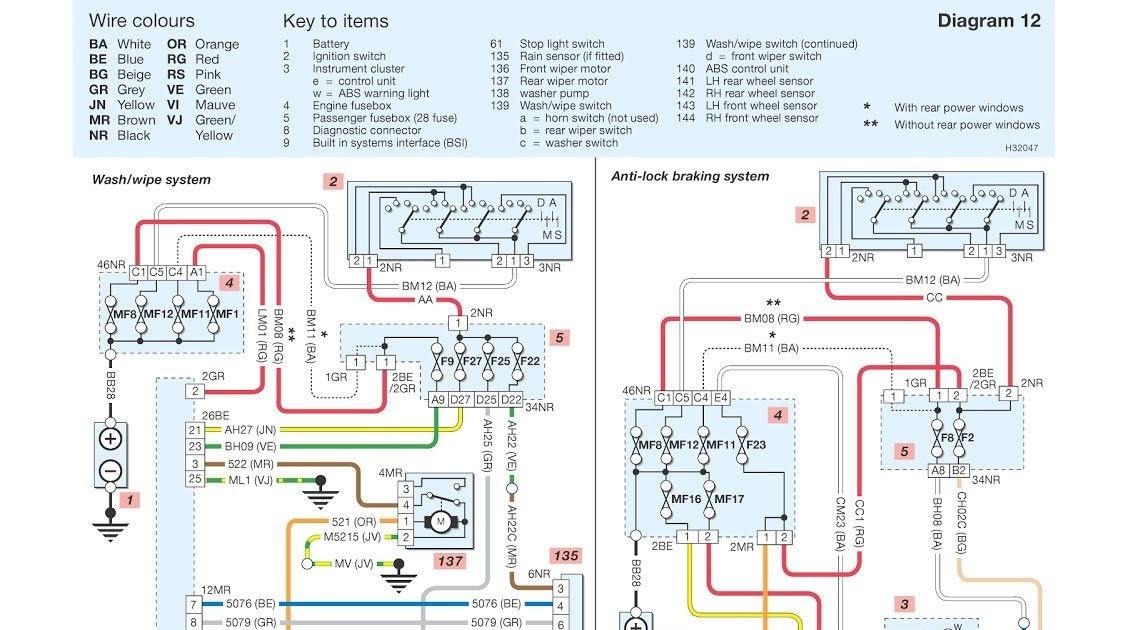 diagram peugeot 406 towbar wiring diagram full version hd