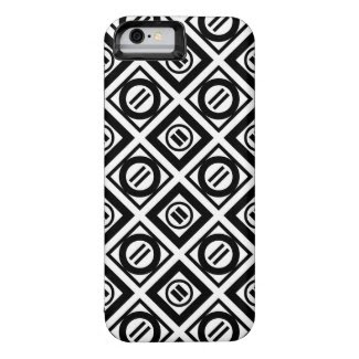 Black Equal Sign Geometric Pattern on White iPhone 6 Case