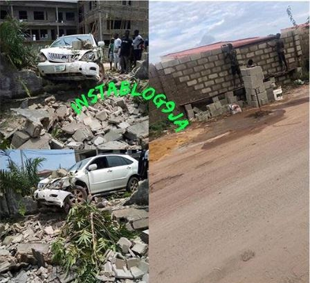 Man Crashes Into Fence While Being Chased By SARS (Photos)
