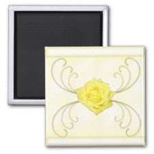 Yellow Rose Magnet magnet