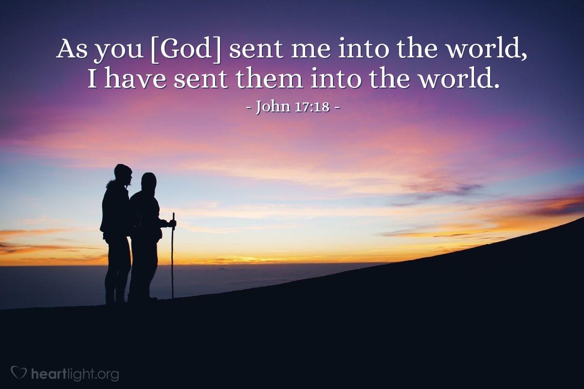 Illustration of John 17:18