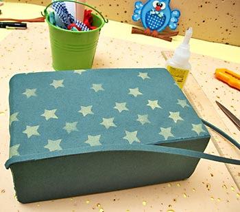 Finalize o acabamento da base da caixa