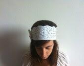 Lace Headband - Womens Bridal Headbands Head Wraps, Head Bands Fabric Headband, Hair Turban Head Scarf Hair Wrap - NadjasMovingCastle