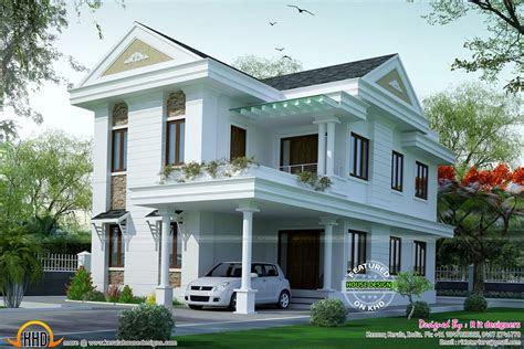 small double floor dream home design kerala home design
