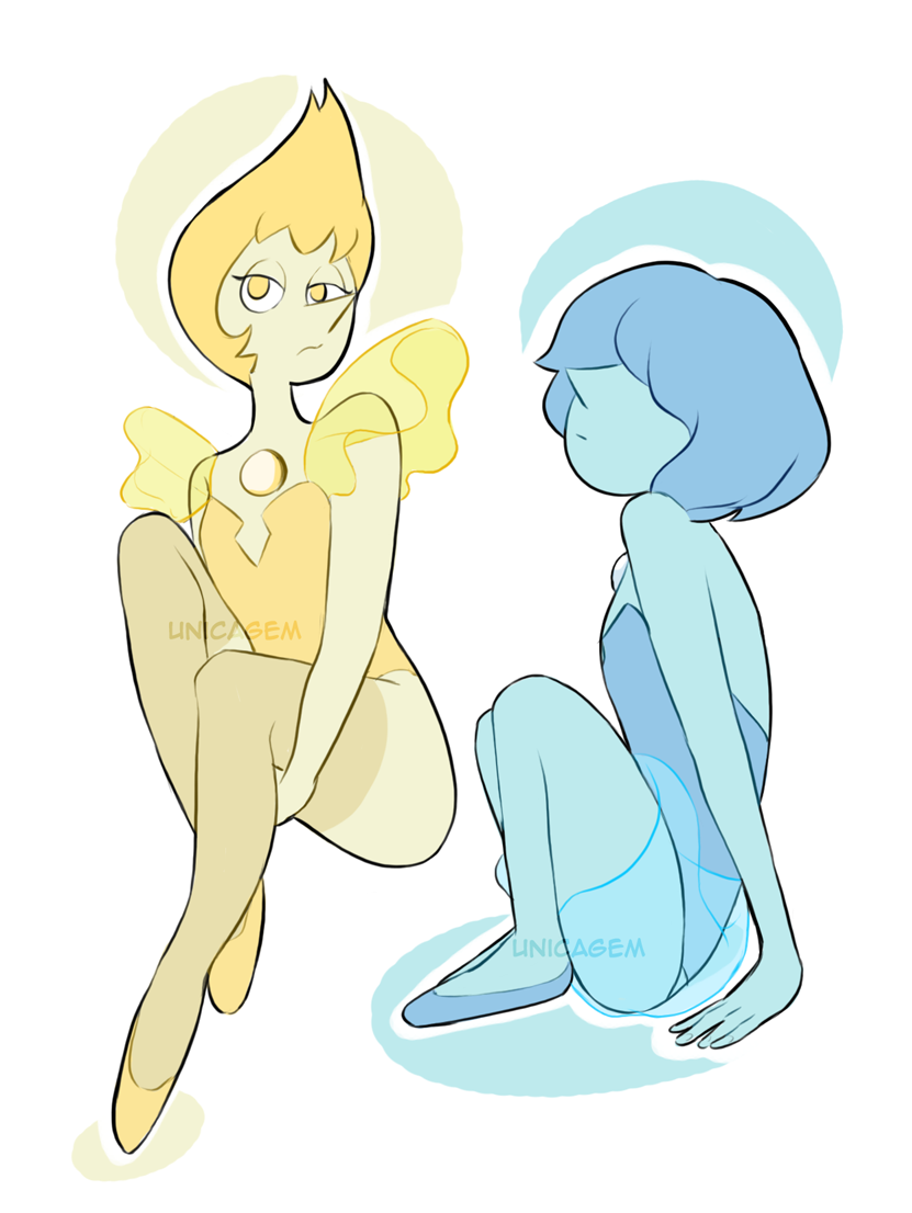 "Gemsona-hq's activity: ""Design a Pearl for Pink Diamond and/or White Diamond!"" (+ Blue and Yellow because I like drawing pearls :P) So, White Diamond's Pearl is supposed to be our Pearl here and for..."