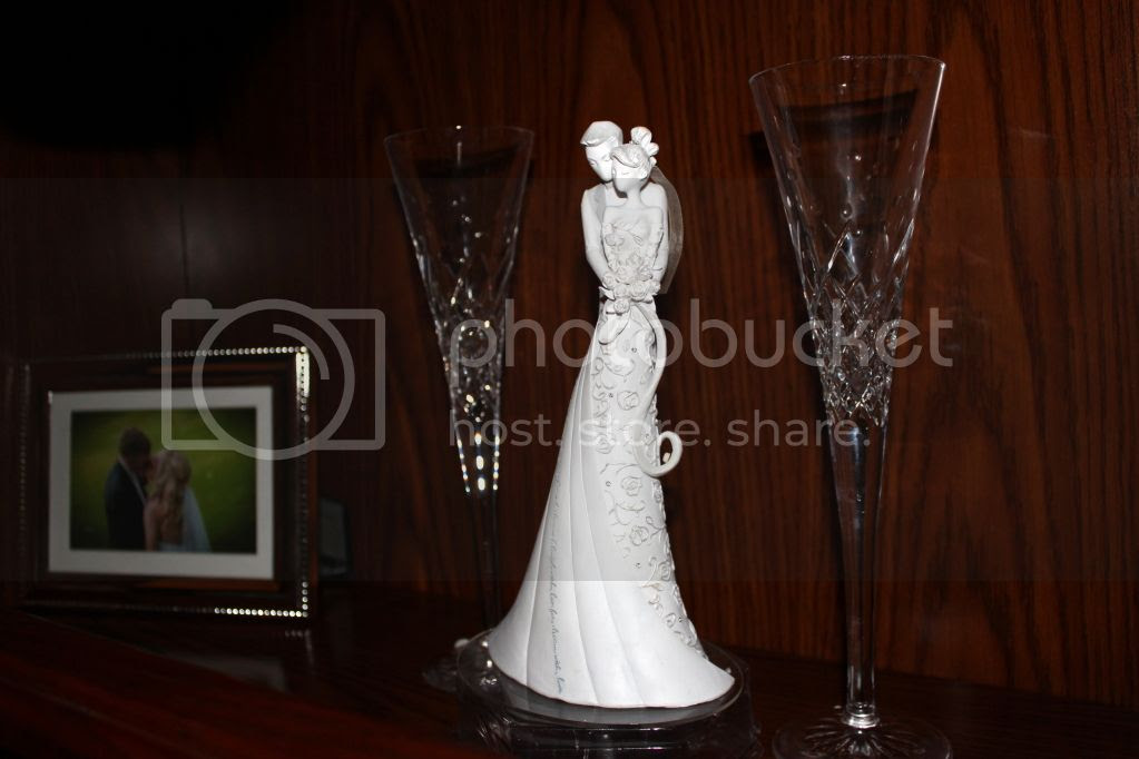 "Gina Freehill ""Embrace"" Wedding Cake Topper"