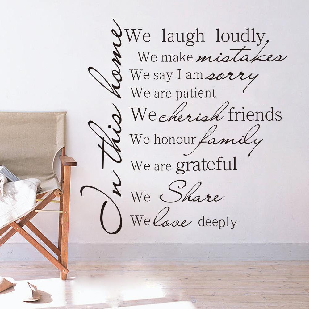 HOUSE RULES In This Home We Laugh Loudly Wall Decal Sticker Living