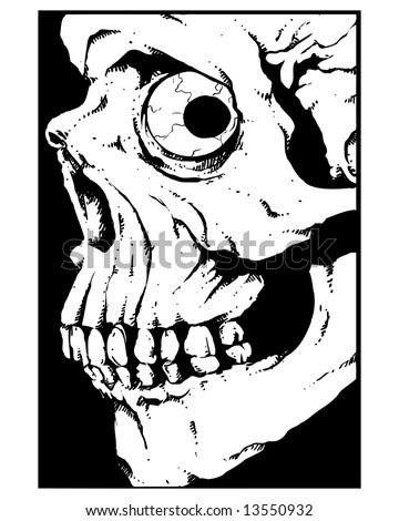 Side View Skull Tattoos