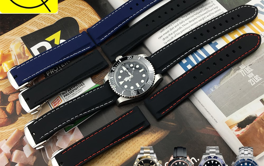 2dd491742e1 Comprar 22 20 18mm Mm Homem Pulseira De Borracha Silicone Universal Para Longines  Submarino Seiko Relógio Casio Azul Band Esportes Baratas Online Preço ...
