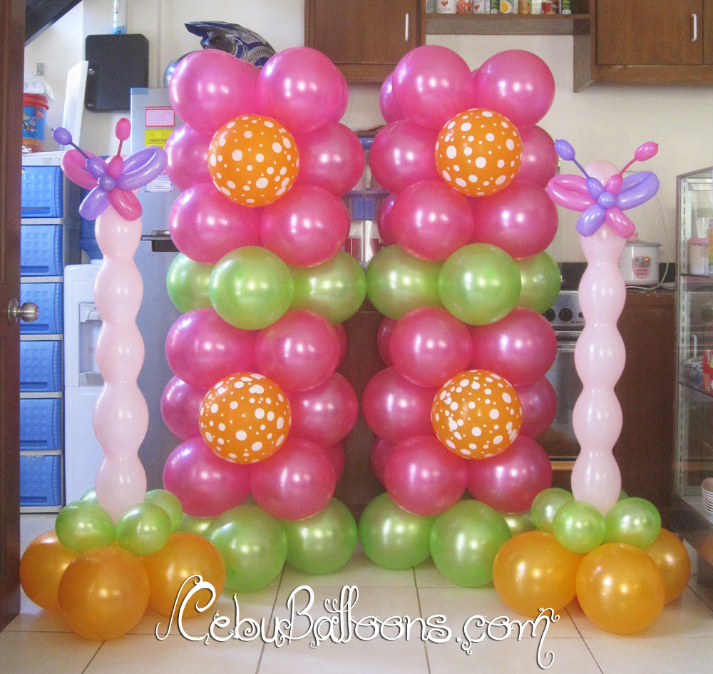 A young conservative balloon decoration with butterfly for 7 star balloon decoration
