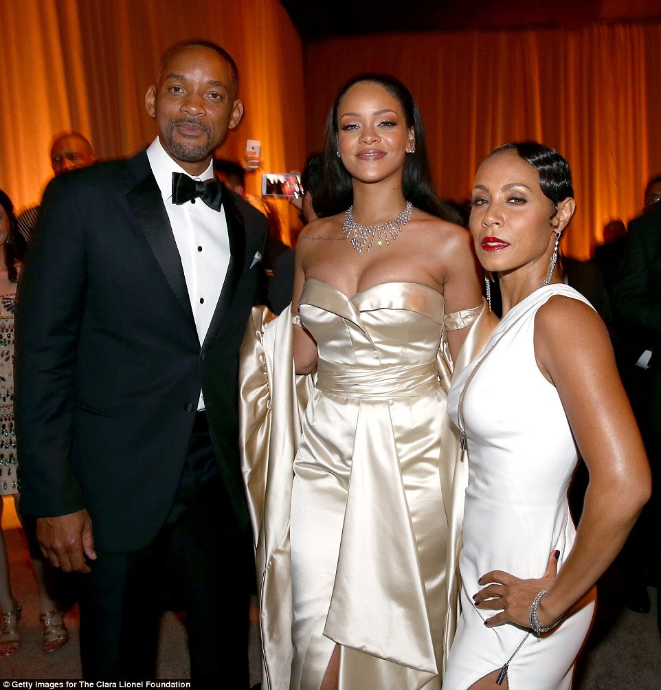 Good cause: Will and Jada joined Rihanna to support her Clara Lionel Foundation's Diamond Ball